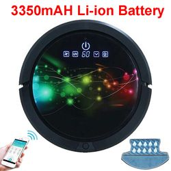 Smartphone WIFI APP Control Robot Aspirador mojado y seco fregona, Robot Aspirador con tanque de agua, 3350 mAh batería de litio