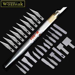 Wozniak High-quality Motherboard BGA IC Knife NAND Remove glue edge Thin blade Mobile maintenance tool + Hard straight blade