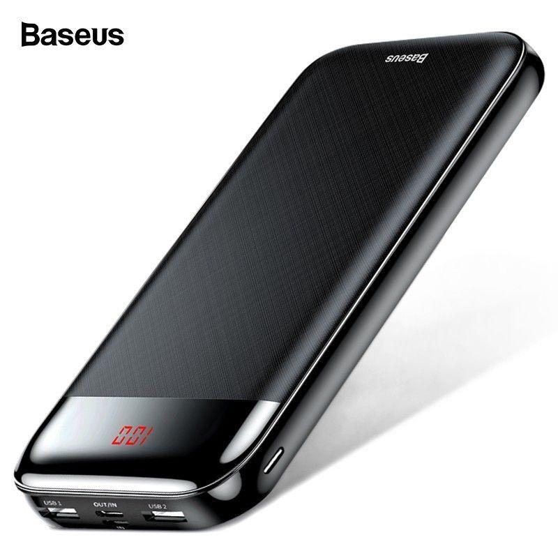 Baseus 20000mAh Power Bank For iPhone Xiaomi mi 9 Portable 20000 Powerbank External Battery USB C PD Charging Charger Poverbank
