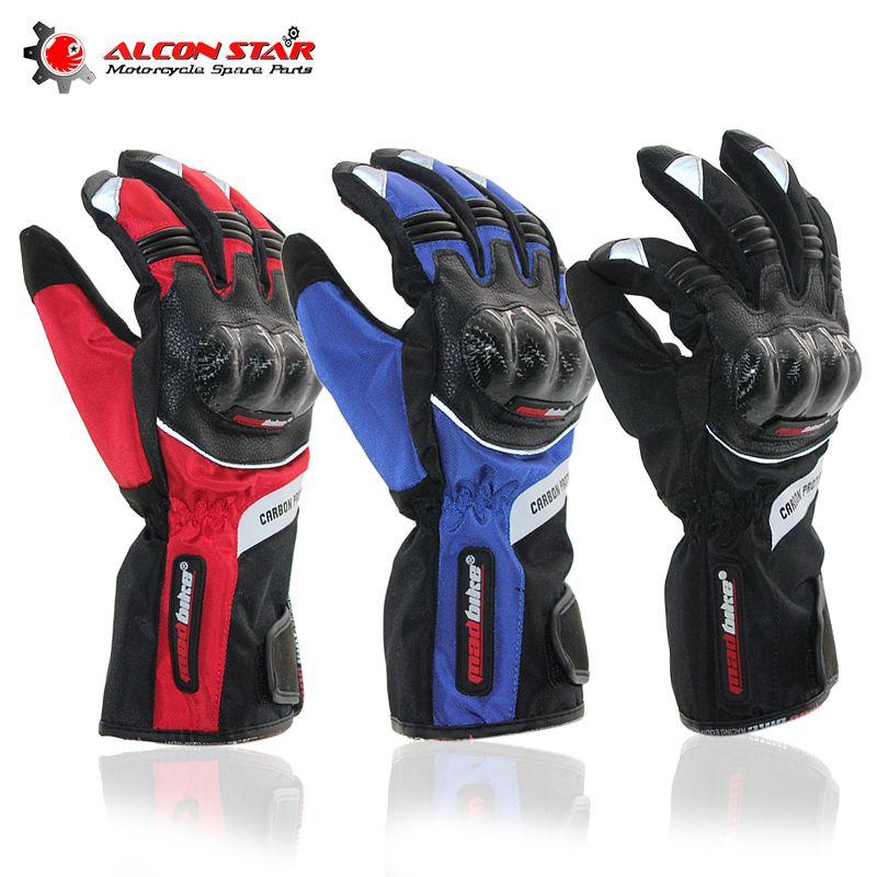 Alconstar- Motorcycle Racing Gloves Winter Warm Waterproof Windproof Guantes Luvas De Moto Motocross Cycling Racing Gloves