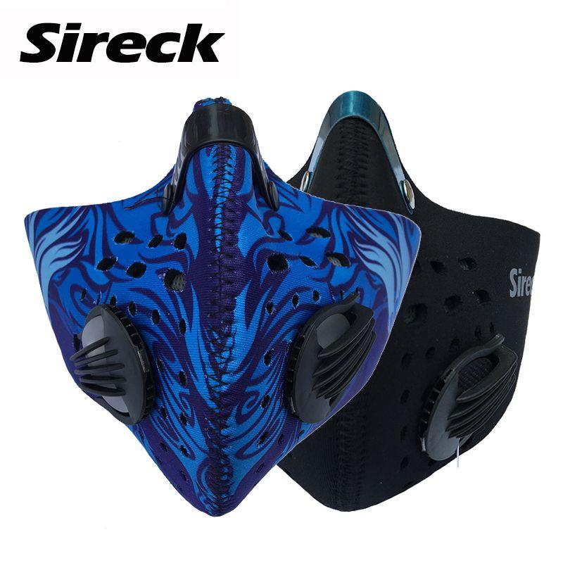 Masque de cyclisme Sireck charbon actif masque de vélo demi-visage Anti-poussière masque de sport masque d'entraînement de Ski de vélo Mascaras Ciclismo