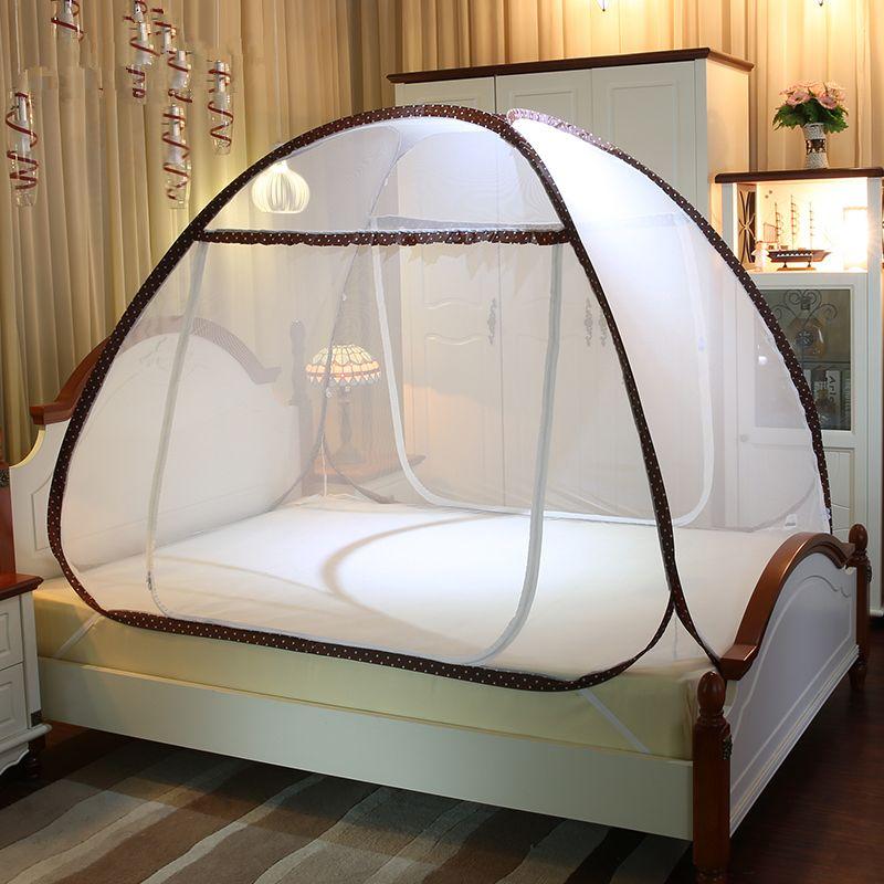 Moskito Net Klapp Polyester Mesh Bi-abschied Student Schlafsaal Bett Baldachin Vorhang Dome Zelt 3 Größen Mongolischen Jurte Bett netting