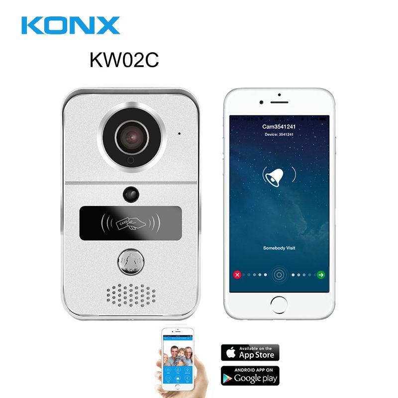 KONX Smart 720P Home WiFi Video Door phone intercom Doorbell Wireless Unlock Peephole Camera Doorbell Viewer 220 IOS Android