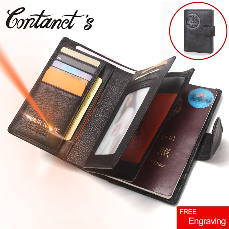2018 Passport Wallet Men Genuine Leather Travel Passport <font><b>Cover</b></font> Case Document Holder Large Capacity Credit Card Holder Coin Purse
