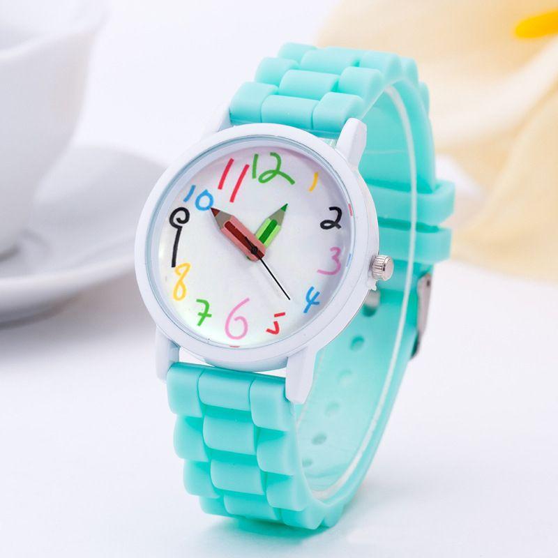Crayon de mode de Bande Dessinée montre Femmes Silicone Montres 2016 New Casual quartz montre-bracelet Pour Enfants et adultes relogio feminino
