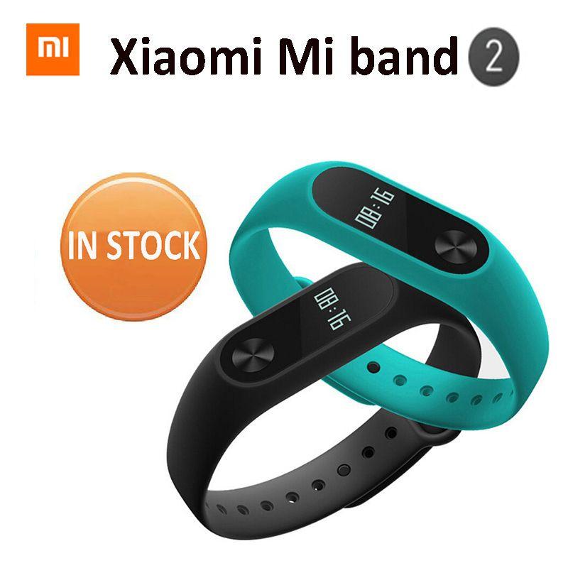 AUF LAGER! neue 2016 Original Xiaomi Mi Band 2 miband 1 S Smart Herzfrequenz Fitness Armband Armband Oled-display 20 Tage batterie