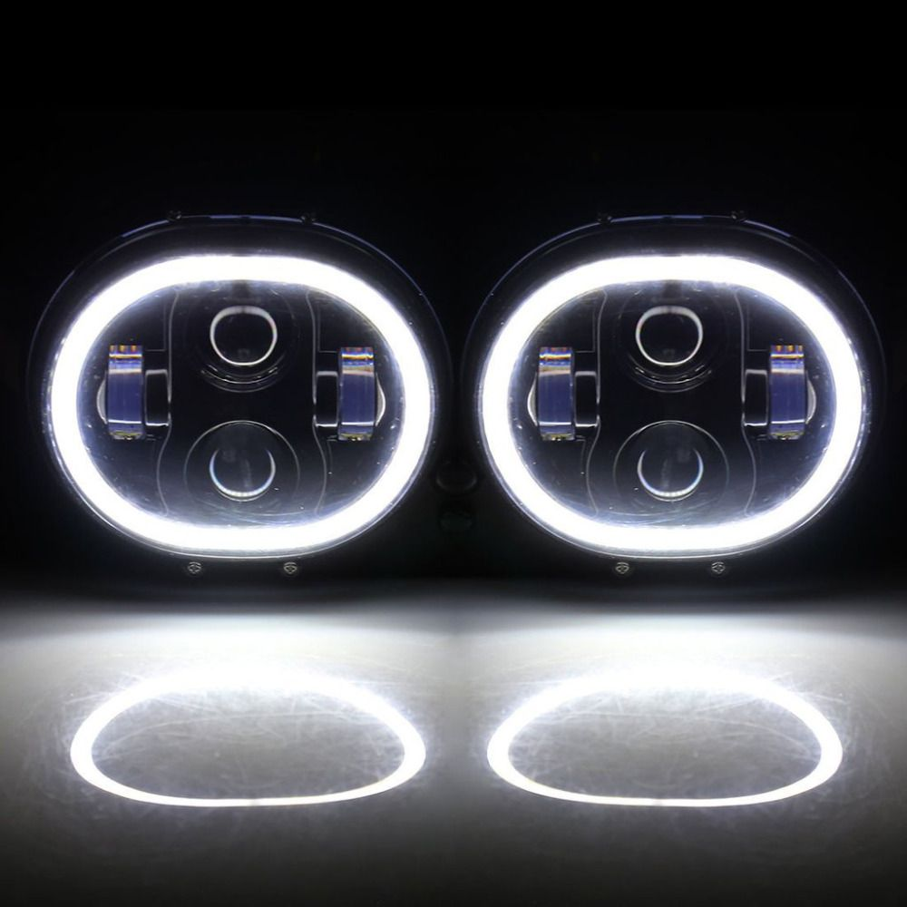 Harley Accessories Road Glide Daymaker LED Headlights With DRL Halo Ring Replacement for Harley Davidson Road Glide HID Headlamp