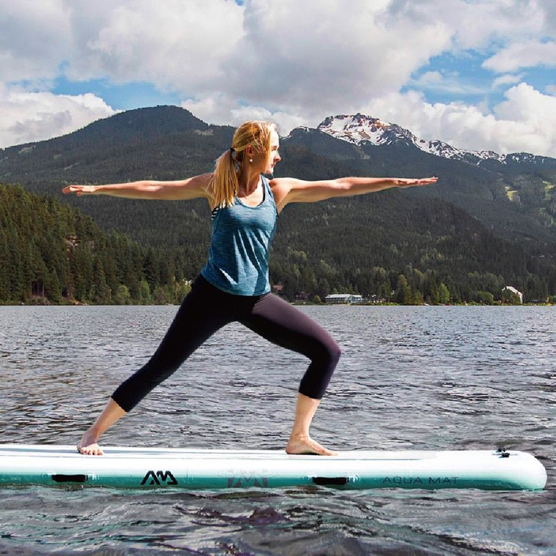 Aqua Marina 300*100*15cm Peace Part Mat Part Board SUP Stand Up Paddle Board Platform for Yoga Surfing Stability A01015