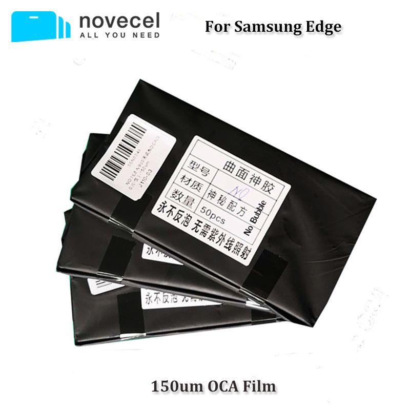 Novecel Neue Ankunft 50 stücke 150um OCA Optische Klare Klebstoff für Samsung S7edge S8 S8 + Hinweis 8 S10 + OCA Kleber Touch Glas Objektiv Film