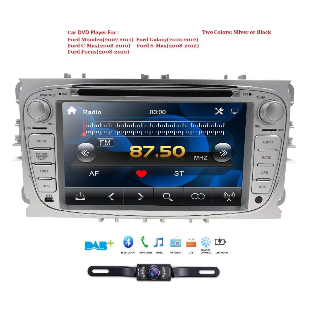 Lecteur multimédia de voiture GPS 2 Din lecteur dvd de voiture pour FORD/Focus/S-MAX/Mondeo/C-MAX/Galaxy autoradio auto audio swc rds fm am sd bt