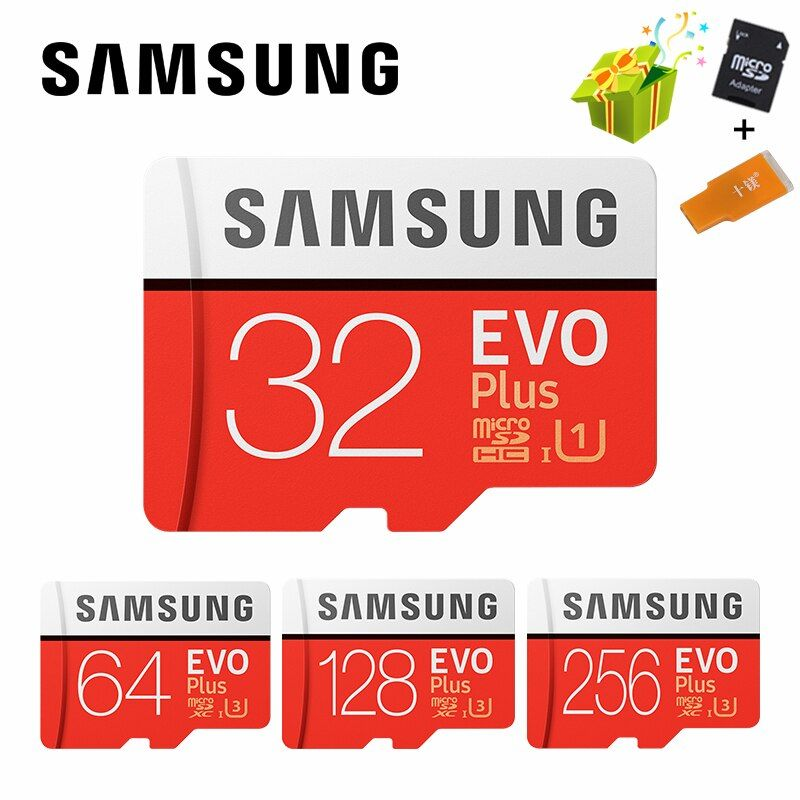 SAMSUNG Microsd Carte 256g 128 gb 64 gb 32 gb 16 gb 8 gb 100 mb/s Class10 U3 U1 SDXC Grade EVO + Micro SD Carte Mémoire Carte TF Flash Carte