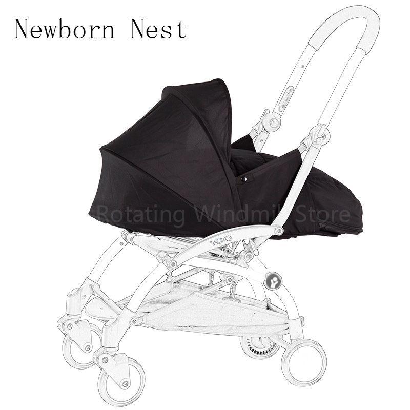 Baby Stroller Birth Nest Newborn Sleeping Bag Stroller Accessories For Babyzen yoyo+ Yoya Babytime Carriages Winter Basket
