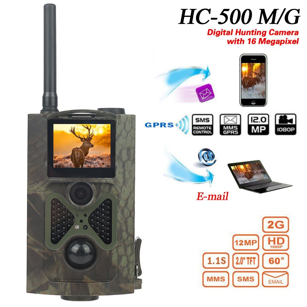 HC300M HC500M Camping Hunting Camera 12MP 940nm Night Vision MMS GPRS Scouting Jacht Camera 2G/3G Trap Infrared Game Hunter Cam