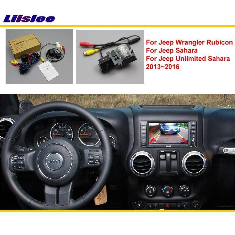 Liislee Für Jeep Wrangler Rubico/Sahara/Unbegrenzte 2013 ~ 2016 Auto Hinten Rückfahrkamera/RCA & Original Kompatibel