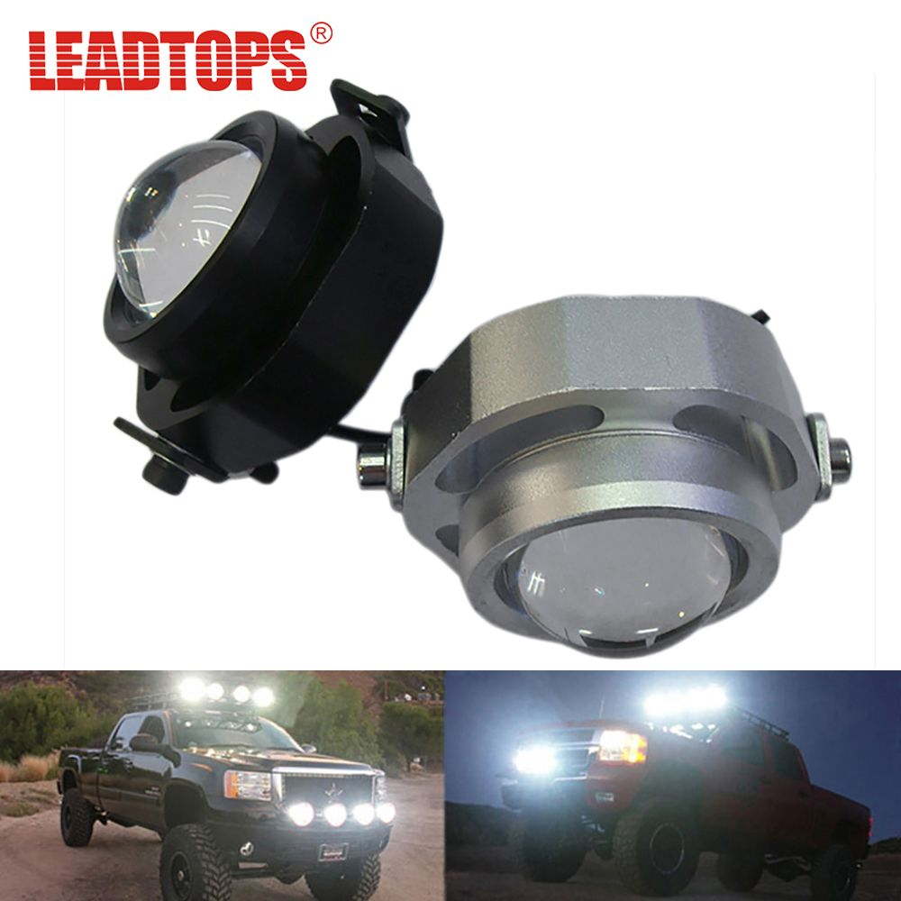 LEADTOPS LED DRL Car Fog Lights Waterproof 1000LM DRL Eagle Eye Daytime Running Light Reverse Backup Parking Foglight 10W CCC AE