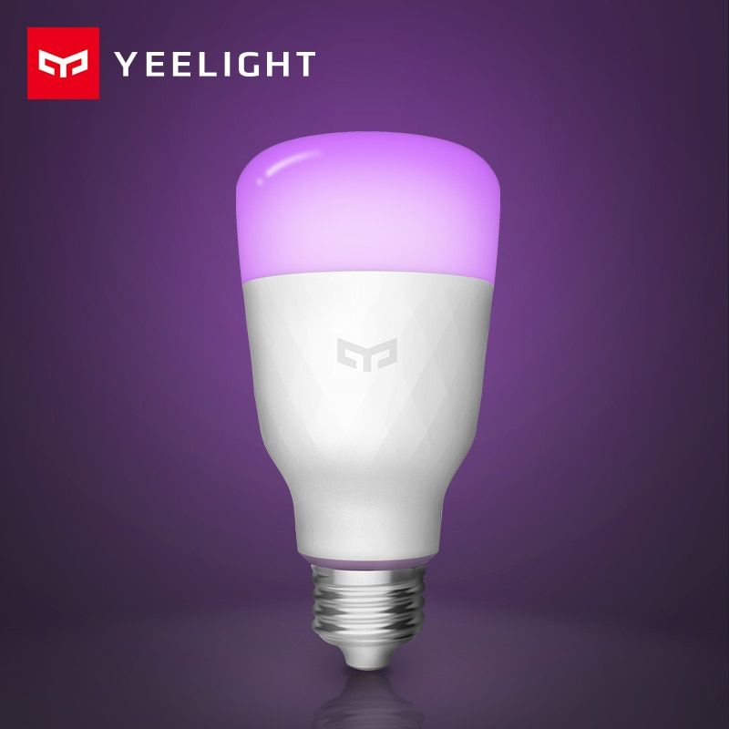 Xiao mi Yeelight ampoule LED intelligente Version anglaise colorée 800 Lumens 10W E27 citron lampe intelligente pour mi Home App Option blanc/rvb