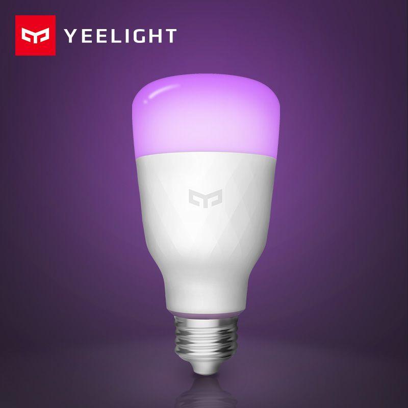 Xiao mi Yeelight Smart LED Ampoule Anglais Version Coloré 800 Lumens 10 w E27 Citron Lampe Intelligente Pour mi Maison app Blanc/RGB Option
