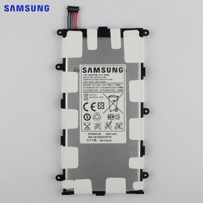 SAMSUNG Original Replacement Battery SP4960C3B For Samsung GALAXY Tab 7.0 Plus P3110 P3100 P6200 Genuine Tablet Battery 4000mAh