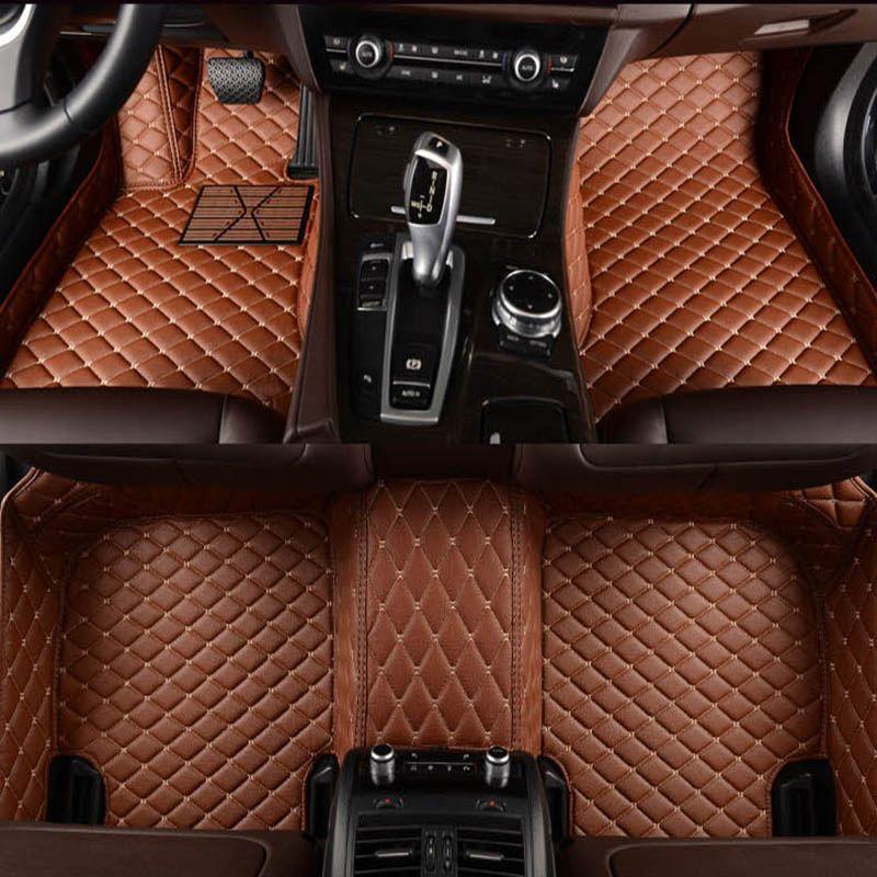 -Matte leder auto boden matten für Volvo C30 S40 S60 S60L S80 S80L V40 V60 XC60 XC90 XC60 C70 auto zubehör auto styling