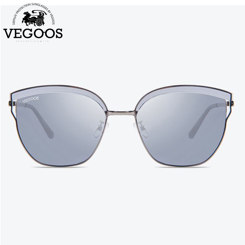 VEGOOS Polarized Unique Square Sunglasses Women Unisex TAC Lens Unique Design Thin Frame Outdoor Driving Retro Sun Glasses#6125