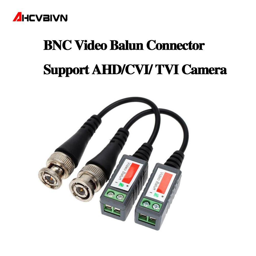10pcs ABS Plastic CCTV Video Balun CCTV Accessories Passive Transceivers 2000ft Distance UTP Balun BNC Cable CAT5 Cable