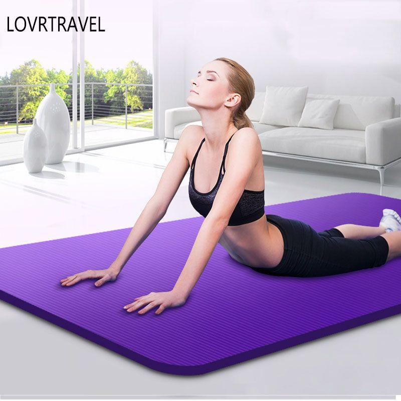 Neue Trainingsmatte 10/15mm Dicke Rutschfeste teppich Pilates Yoga Verlieren Gewicht Übung teppiche Faltbare Fitness teppich für Fitness