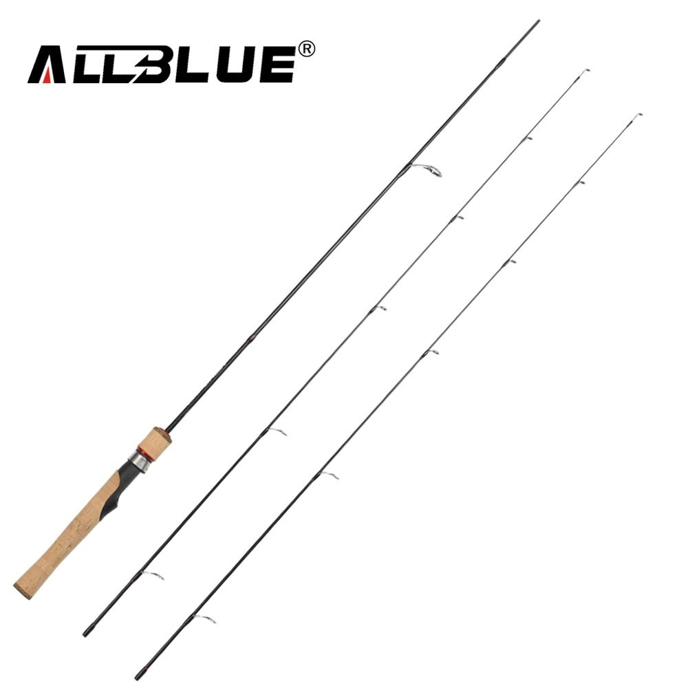 ALLBLUE Viking Spinning Rod UL/L 2 Tips 1.8m Ultralight 1/32-1/4oz 2-8LB 100% Carbon Fishing Rod pesca peche Fishing Tackle