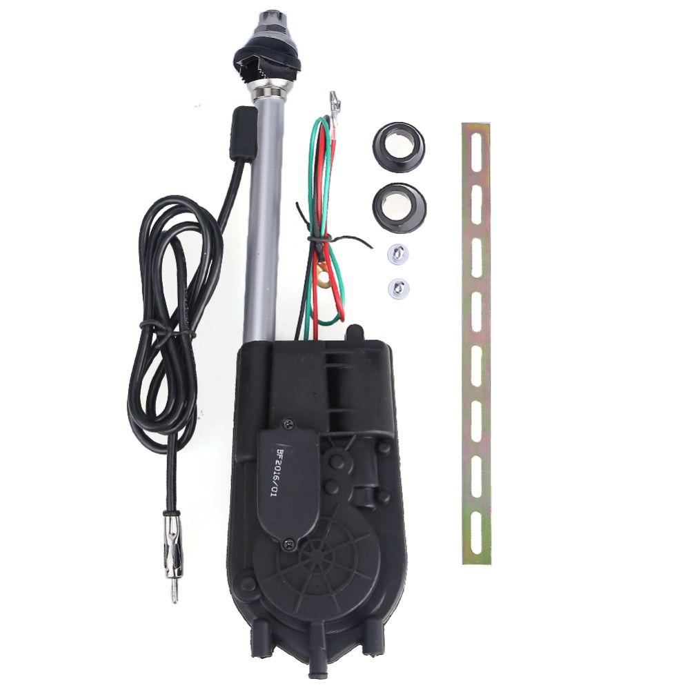 2017 Universal Retractable Antenna Car Aerial Antenna Electric Radio Carro 12V FM/AM Automatic Aerial Retractable Antenna