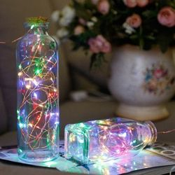 Año Nuevo Navidad guirnalda impermeable alambre de cobre LED String lámpara de luces de hadas 2 m/5 m longitud interior decoraciones