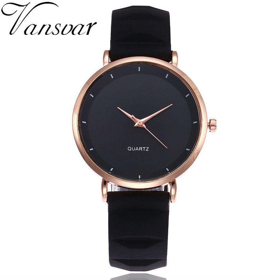 Vansvar Fashion Jelly Silicone Women Watches Luxury Brand Casual Ladies Quartz Clock Wristwatches Clock Montre Femme