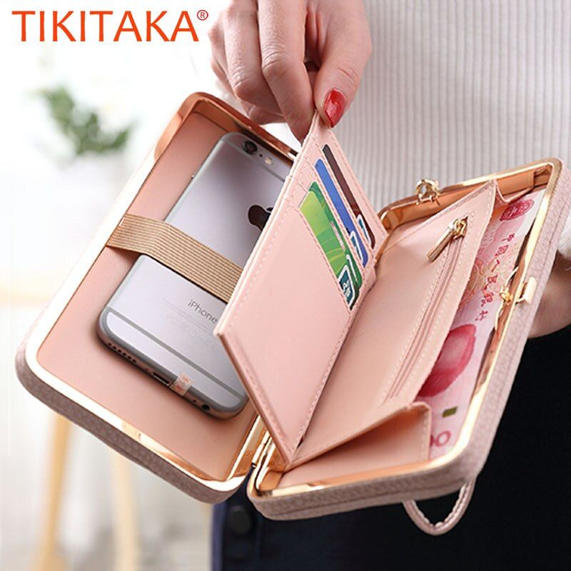 Luxury Women Wallet Phone Bag Leather Case For iPhone 8 7 6S Plus 5 For Samsung Galaxy S7 Edge S6 Xiaomi Redmi 3S Note3 4 Cover