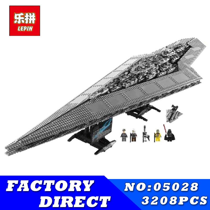 LEPIN 05028 3208 pcs Série Star Wars Imperial Star Destroyer Modèle Action Building Blocks Briques Compatible 75055 Enfants Jouets