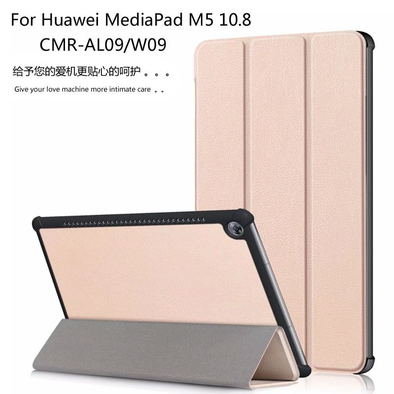 Magnet Leather Cover Stand Case For Huawei MediaPad M5 10.8 10 Pro CMR-AL09 CMR-W09 10.8 inch <font><b>Tablet</b></font> + Gift