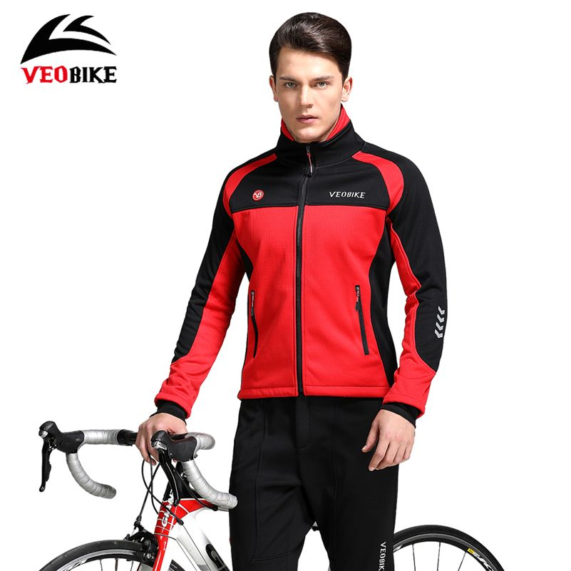 VEOBIKE Cycling Set Winter MTB Road Bike Waterproof Thermal Jacket Set Windproof Fleece Ropa Ciclismo Bike Winter Jersey Set