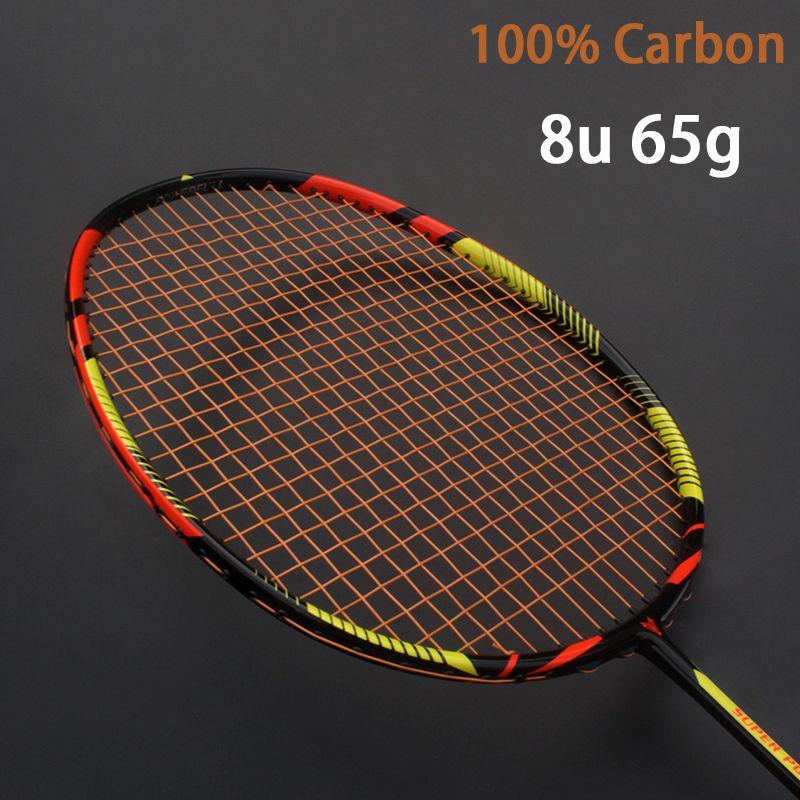 Ultraleicht 8U 65g Kohlenstoff Professionelle Badminton Schläger Saiten Aufgereiht Tasche Multicolor Z Geschwindigkeit Kraft Raket Rqueta Padel 22-30LBS