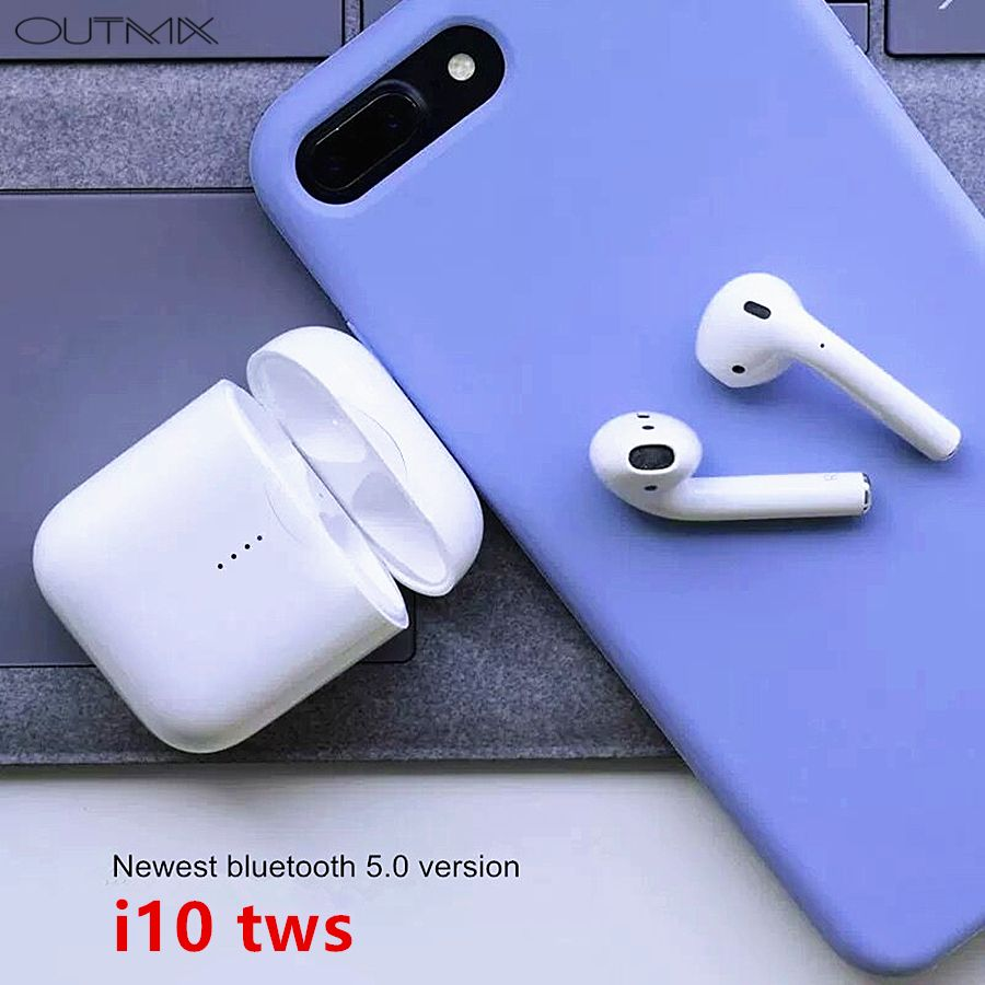OUTMIX i10 tws Bluetooth Earphones Wireless earphone Bluetooth 5.0 headset In ear Touch control headphones wireless for phone