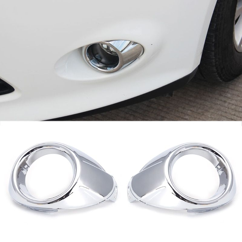 2 Pcs ABS Chrome Car Front Fog Light Lamp Cover Trim For Ford Focus 3 MK3 2012 2013