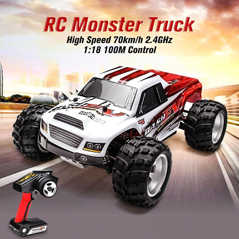 WLtoys A979-B 4WD 1/18 High Speed Monster Truck 1:18 RC Car 70km/h with Transmitter With Battery RTR Remote Control Toys