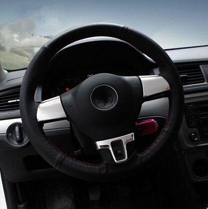 Car styling steering wheel decoration cover sticker car accessories for Volkswagen VW Lavida Gran Lavida Passat Tiguan Touran