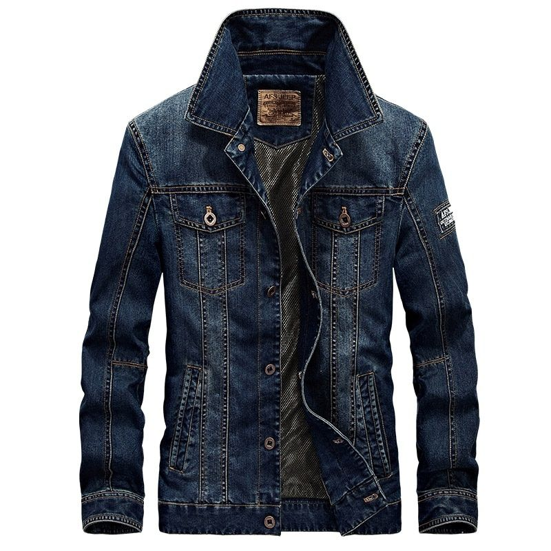 2018 New Spring & Autumn Denim Jacket Men Turn-Down Collar Fashion Slim Outerwear Jaquetas Masculino Jeans Jacket Plus size 4XL