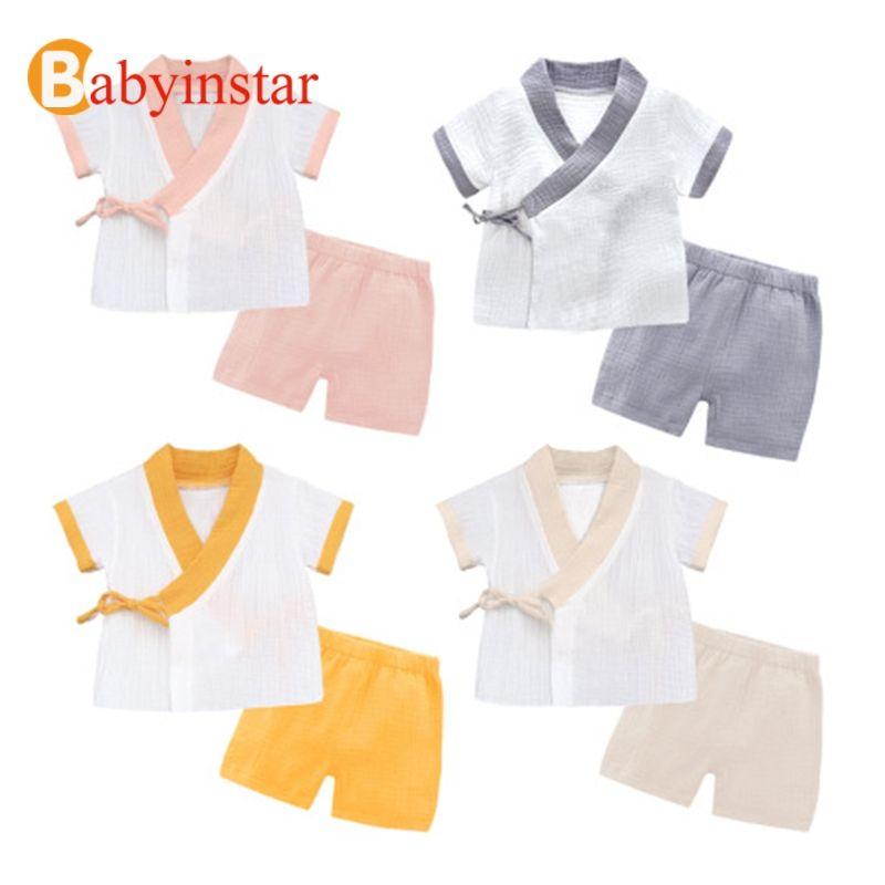 Babyinstar 2019 nouveau bébé fille coton vêtements ensembles enfants mode d'été tenues 2 pièces ensembles hauts + vêtements d'extérieur