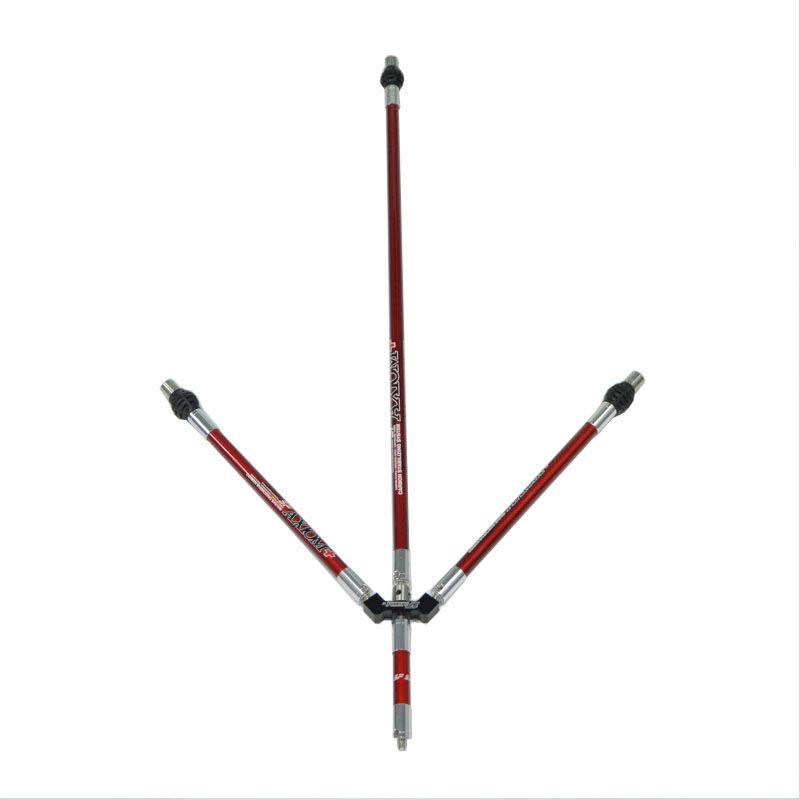 Tiro con arco recurvo estabilizador de carbono sistema varilla equilibrio compuesto arco barra de equilibrio de polo amortiguador estabilizador
