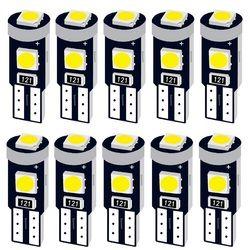 10 шт. T5 58 74 286 W1.2W супер яркий 3030 светодиодный Клин Dashboard Калибр лампы автомобилей Предупреждение индикатор приборов лампочка