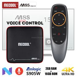 Mecool M8S PRO W голос Управление Smart ТВ коробка Android 7,1 Amlogic S905W 2 ГБ 16 ГБ HDMI телеприставки PK X96 мини