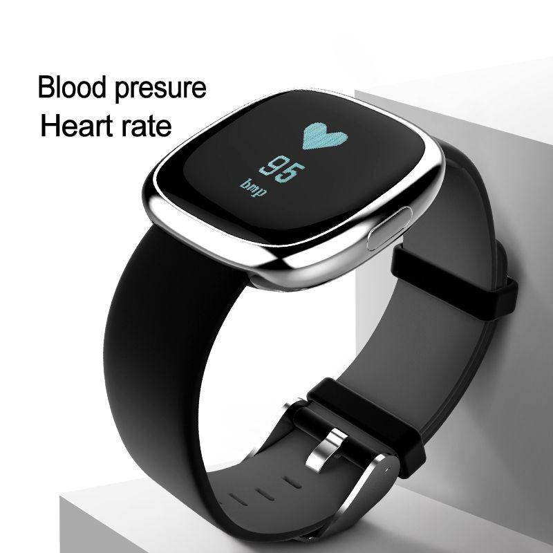 Fréquence cardiaque Pulse Moniteur Intelligent Bande Sommeil Fitness Tracker Sang Pression Bracelet Podomètre pour Andriod IOS iPhone 7 Meizu Montre