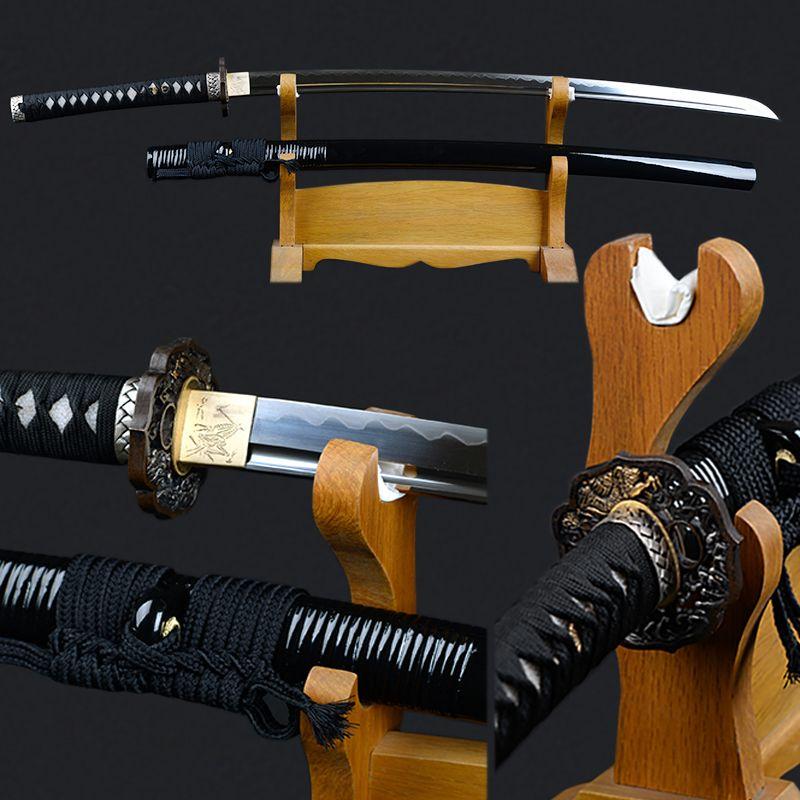 Sharp Edge Japanese Sword Fully Handmade Katana 1095 Carbon Steel Clay Tempered Blade Full Tang Decorative Samurai Sword Espada