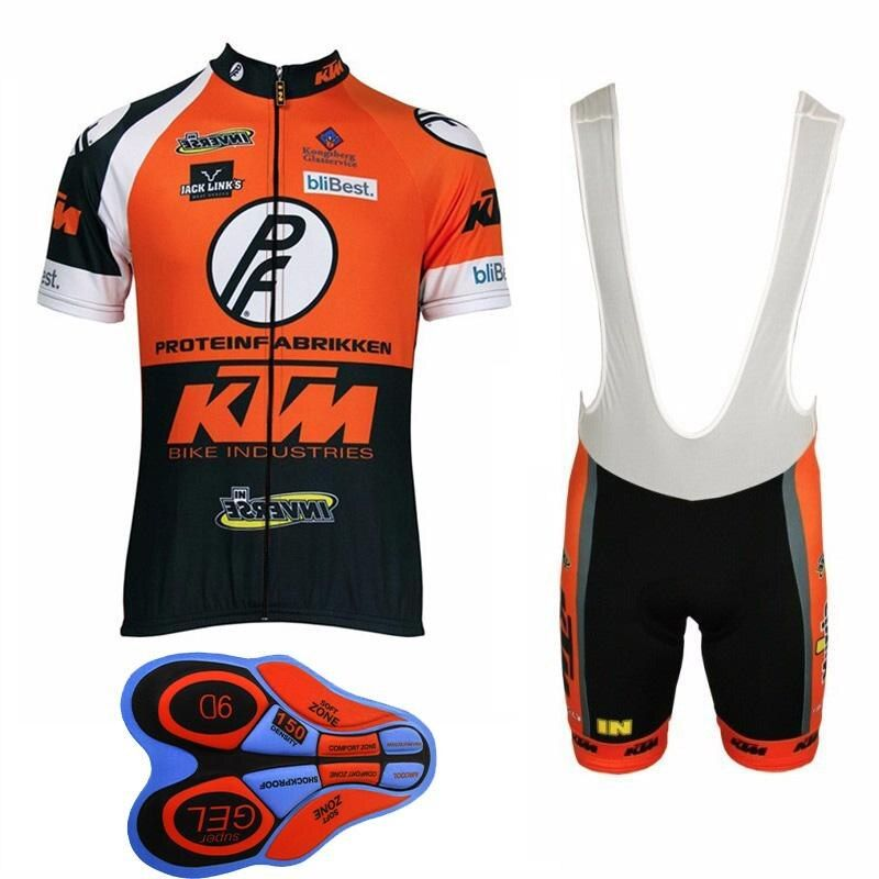Team KTM Cycling Jersey 2018 Bike Clothing Men Quick Dry MTB Bicycle Short Sleeve Set Shorts 9D Pad uniformes ciclismo hombre I6
