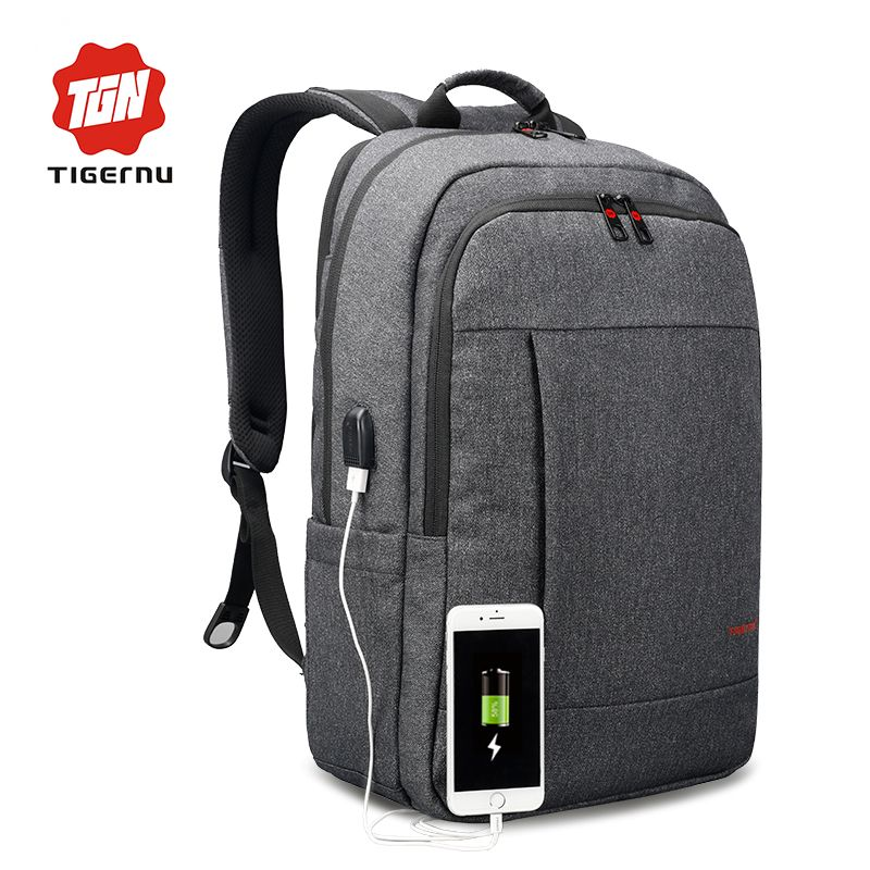 2017 Tigernu Anti-thief USB charging 15.6inch laptop backpack for women Men Backpack school backpack Bag for Male Mochila