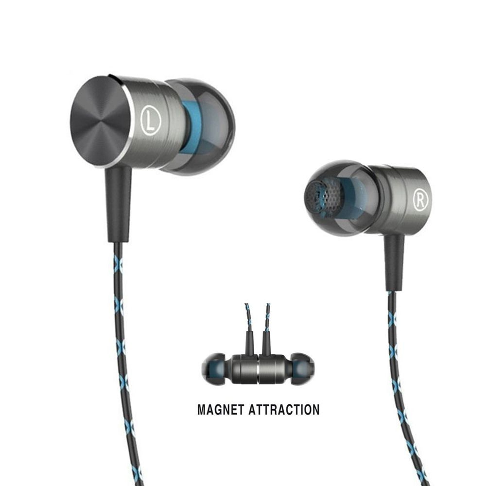 Magnetic HiFi Headphones Stereo Bass In-Ear Earphones for Mobile Phone 3.5mm Headphone With Mic for Samsung Xiaomi Huawei Phone