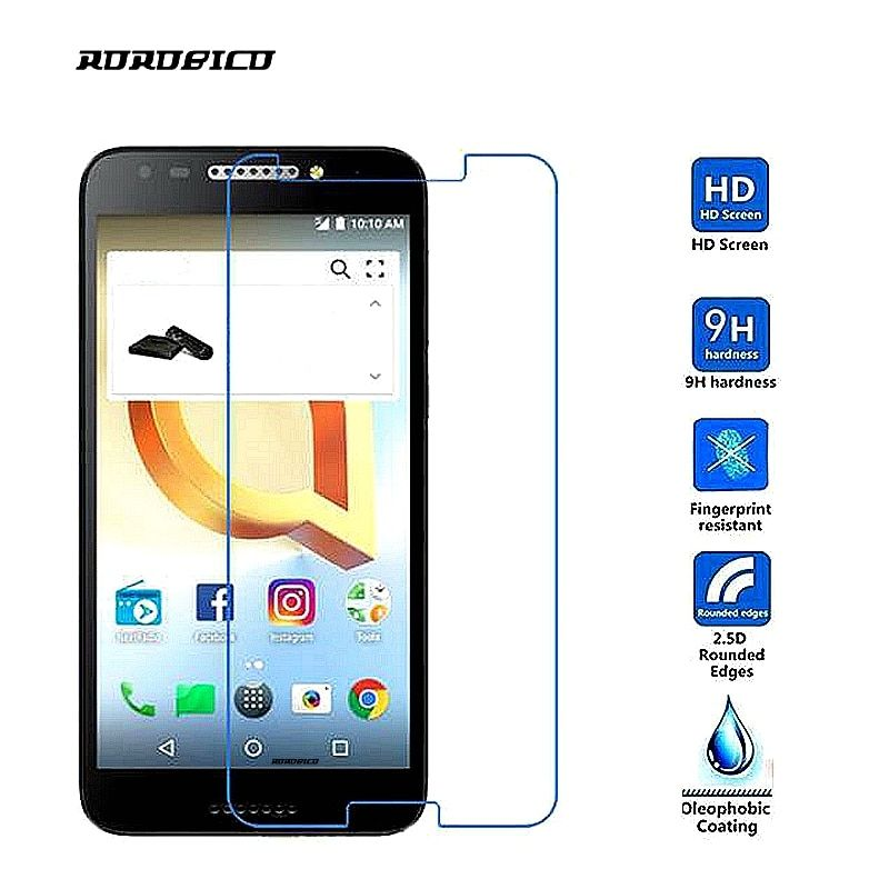 ROROBICO 0.26mm 9H Premium Tempered Glass For Alcatel A30 Screen Protector Toughened protective film For Alcatel A30 5.0 INCH